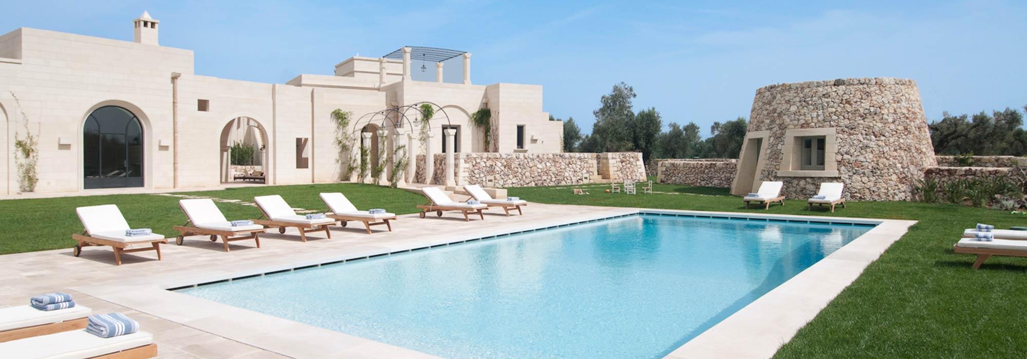 Masseria La Conchiglia – Luxury Rental Villa with pool in Puglia – Sleeps 14
